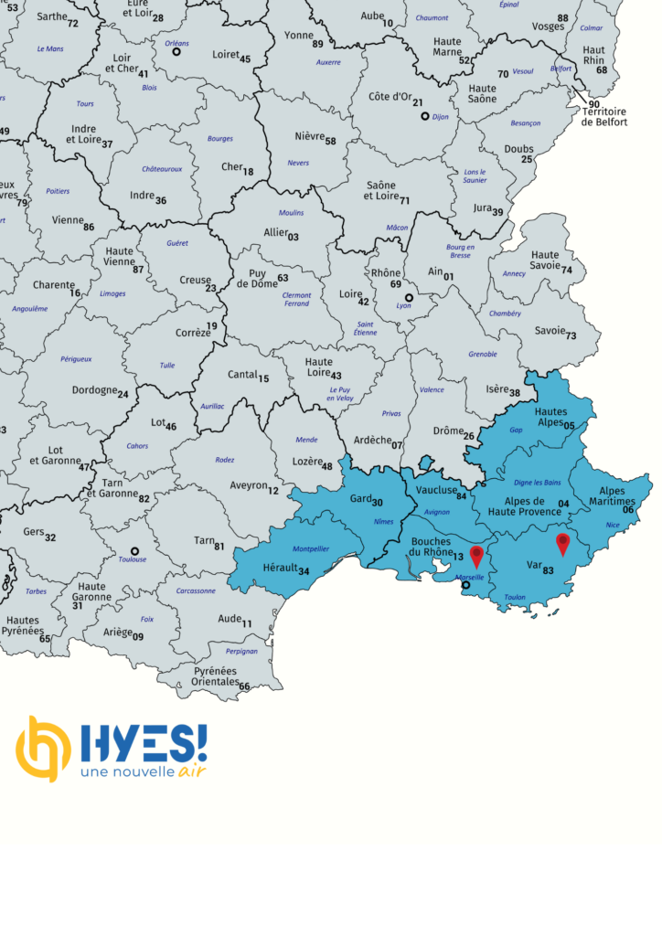 Zone d'intervention Hyes