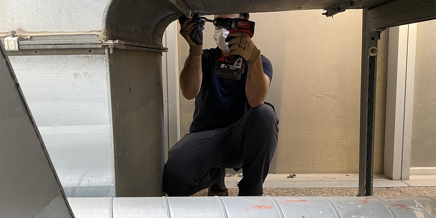 Réparation filtration d'air